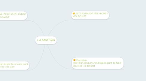 Mind Map: LA MATÈRIA