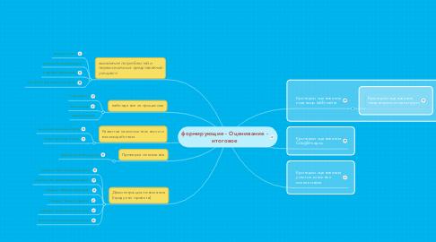 Mind Map: формирующие - Оценивание - итоговое