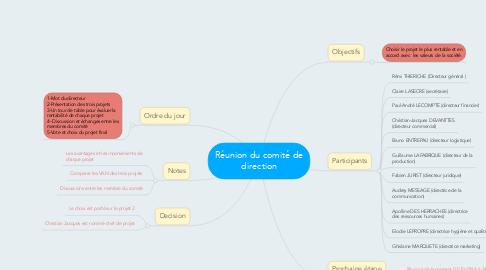 Mind Map: Réunion du comité de direction