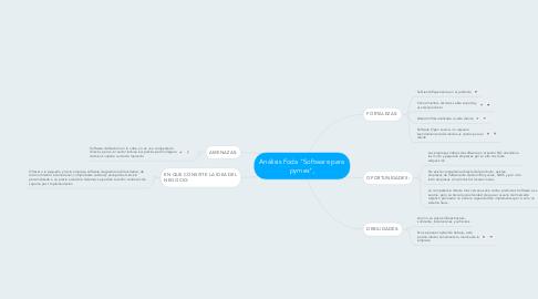 """Mind Map: Análisis Foda """"Software para pymes"""","""