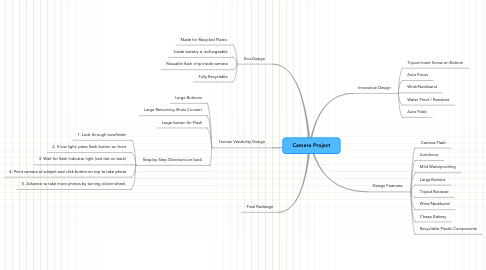 Mind Map: Camera Project