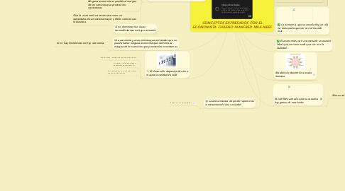 Mind Map: CONCEPTOS EXPRESADOS POR EL ECONOMISTA CHILENO MANFRED MAX-NEEF