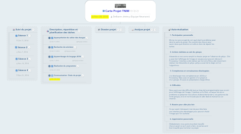 Mind Map: Carte Projet TNIM