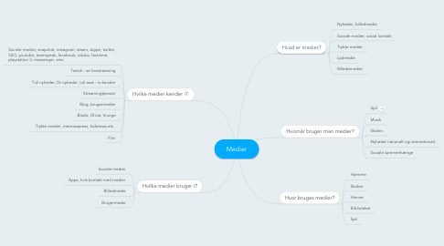 Mind Map: Medier