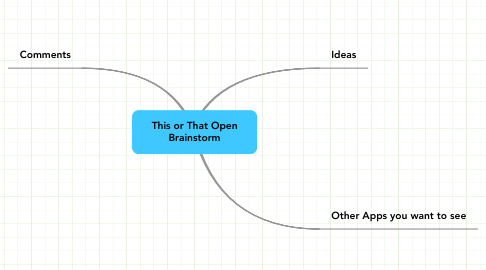 Mind Map: This or That Open Brainstorm