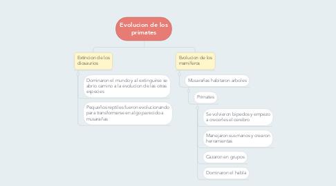 Mind Map: Evolucion de los primates