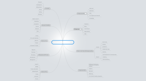 Mind Map: Entrepreneurial Activities