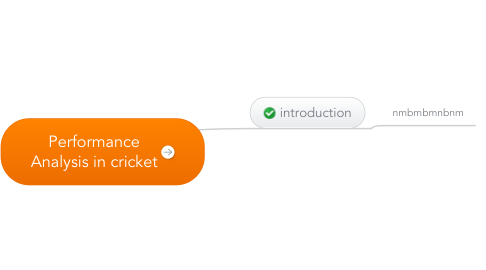 Mind Map: Performance Analysis in cricket