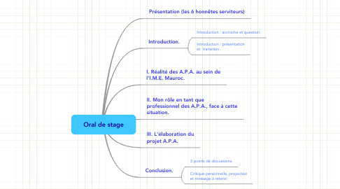 Mind Map: Oral de stage