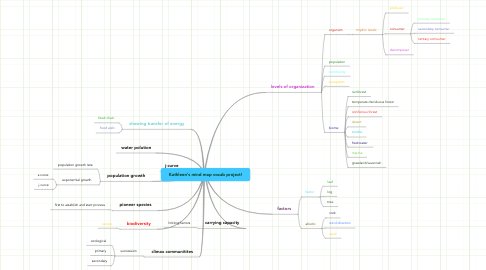 Mind Map: Kathleen's mind map vocab project!