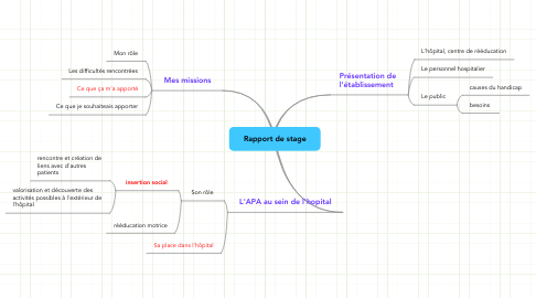 Mind Map: Rapport de stage