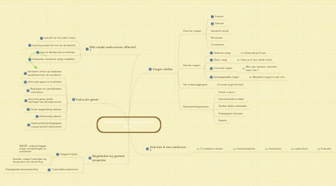 Mind Map: Hoe zet ik leerlingen aan het werk ?