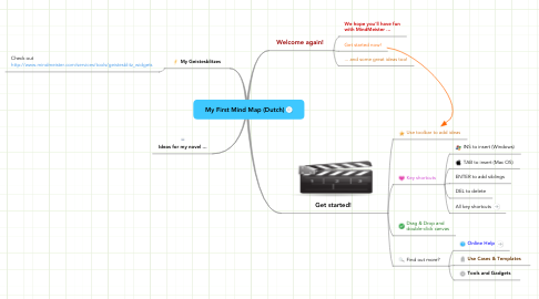 Mind Map: My First Mind Map (Dutch)