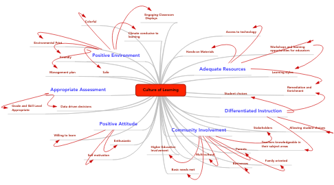 Mind Map: Culture of Learning