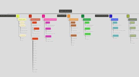 Mind Map: Esquema de proyectos