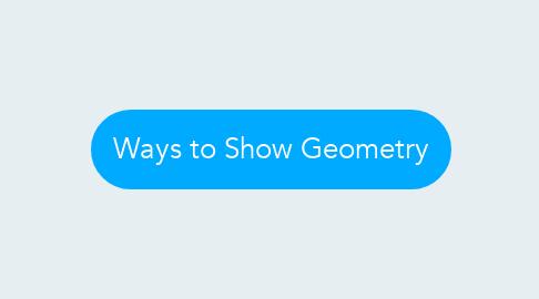 Mind Map: Ways to Show Geometry