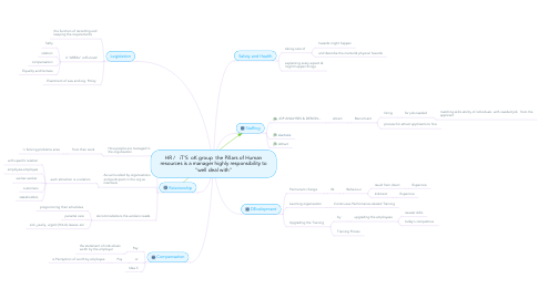 "Mind Map: HR /   iT'S  oK group  the Pillars of Human resources is a manager highly responsibility to ""well deal with"""