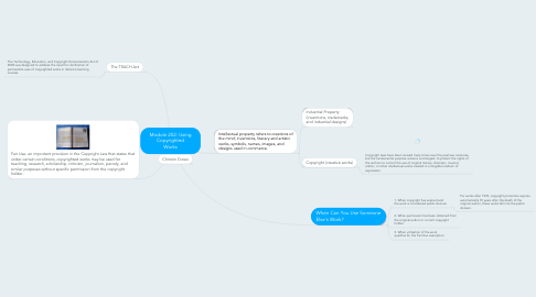 Mind Map: Module 202: Using Copyrighted Works