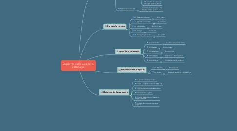 Mind Map: Aspectos esenciales de la catequesis