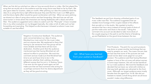 Mind Map: Q3 - What have you learned from your audience feedback?