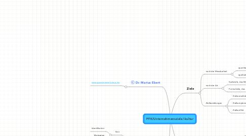 Mind Map: PFK/Unternehmensziele/-kultur