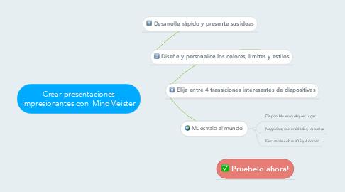 Mind Map: Crear presentaciones impresionantes con  MindMeister