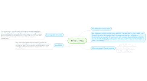Mind Map: Tactile Learning