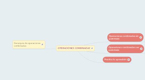 Mind Map: OPERACIONES COMBINADAS