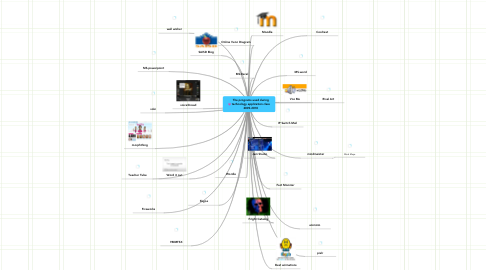 Mind Map: The programs used during