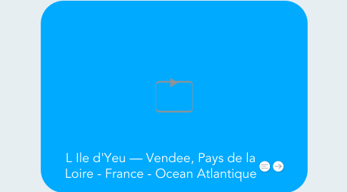 Mind Map: L Ile d'Yeu — Vendee, Pays de la Loire - France - Ocean Atlantique
