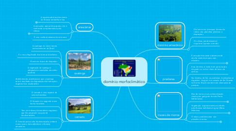 Mind Map: domínio morfoclimático