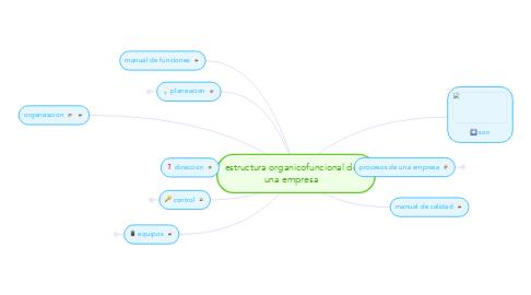 Mind Map: estructura organicofuncional de una empresa