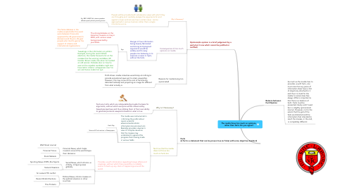 Mind Map: The media focus too much on opinions, rather than facts. Do you agree?