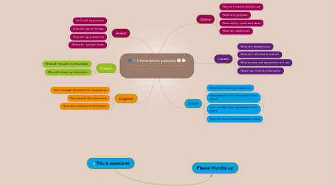 Mind Map: Information process