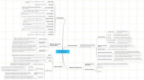 Mind Map: Chap. 8 Web Server Hard- ware and Software