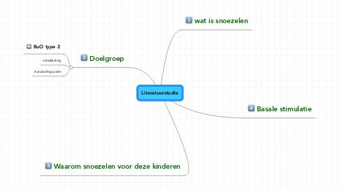 Mind Map: Literatuurstudie