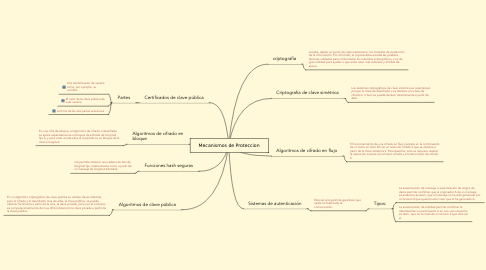 Mind Map: Mecanismos de Proteccion