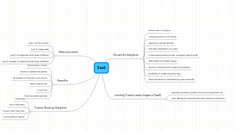 Mind Map: SaaS