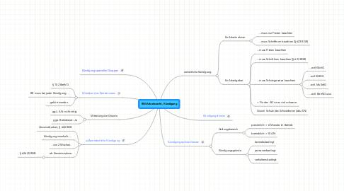 Mind Map: BW/Arbeitsrecht, Kündigung