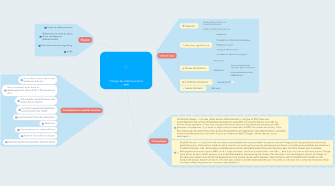 Mind Map: Chargé de référencement web