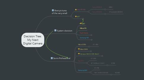 Mind Map: Decision Tree: My Next Digital Camera