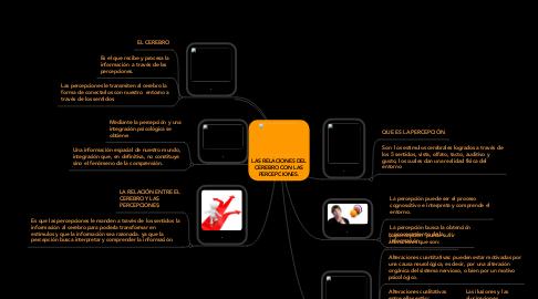 Mind Map: LAS RELACIONES DEL CEREBRO CON LAS PERCEPCIONES.