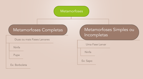 Mind Map: Metamorfoses