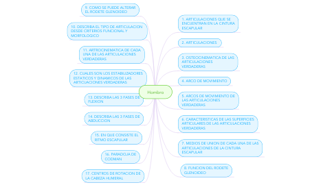 Mind Map: Hombro