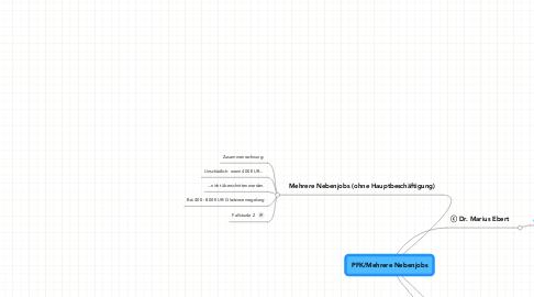 Mind Map: PFK/Mehrere Nebenjobs