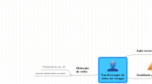 Mind Map: Transformação devinho em vinagre