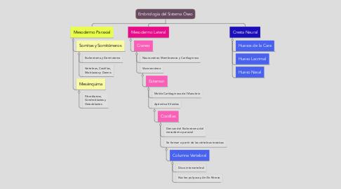 Mind Map: Embriología del Sistema Óseo