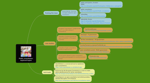 Mind Map: Public consultation: explored topics