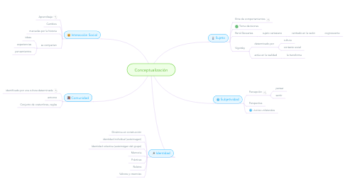 Mind Map: Conceptualización