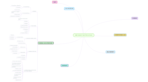 Mind Map: MBE SUBJECT MATTER OUTLINE